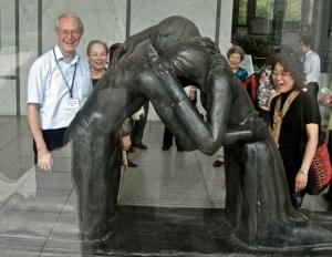 """""""Reunion"""", 1977, by Josefina de Vasconcellos, Hiroshima Peace Park"""