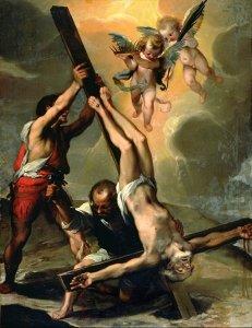 The Crucifixion of Saint Peter Fine Art Print by Ventura di Arcangelo Salimbeni.