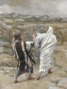 Peter and Jesus - Tissot