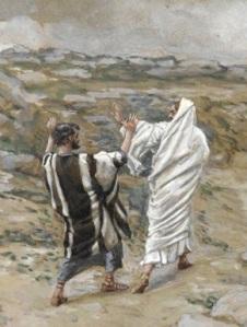 Peter and Jesus - Tissot