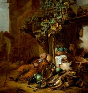 Tobit at wall - Jan Baptist Weenix