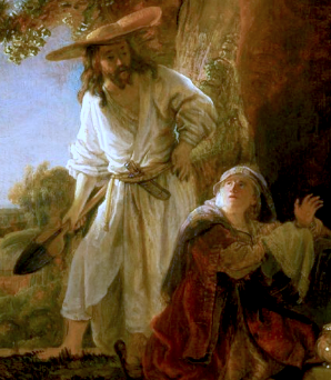 Mary Magdalene w Jesus - Rembrandt
